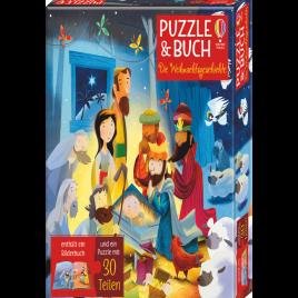 Puzzle & Buch: Die Weihnachtsgeschichte
